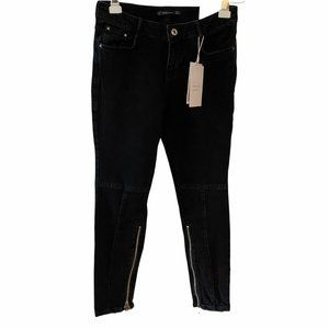 ZARA Zipper Leg Skinny Jeans 4 NWT